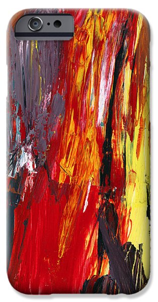 Abstract - Acrylic - Rising power iPhone Case by Mike Savad