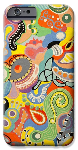 Strange iPhone Cases - Abstract Art - The Land of Nod iPhone Case by Karyn Robinson