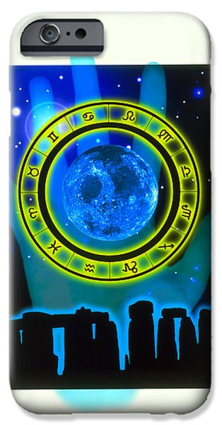 Abstract Artwork Of Fortune Telling iPhone Case by Victor Habbick Visions