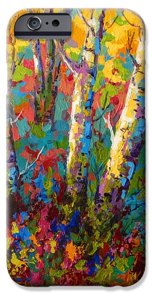 Leaves iPhone Cases - Abstract Autumn II iPhone Case by Marion Rose
