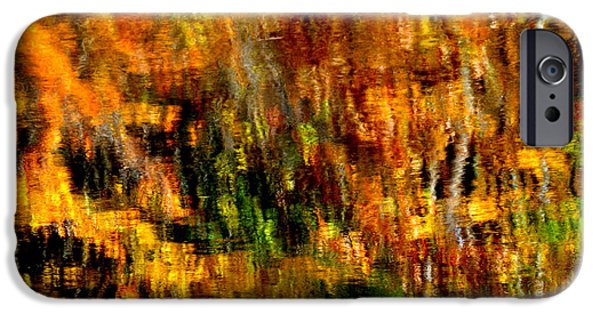 Grist Mill iPhone Cases - Abstract Babcock State Park iPhone Case by Thomas R Fletcher
