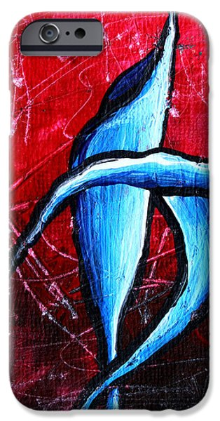 Abstract Calla Lilly Textured Painting GREETING LILLIES by MADART iPhone Case by Megan Duncanson