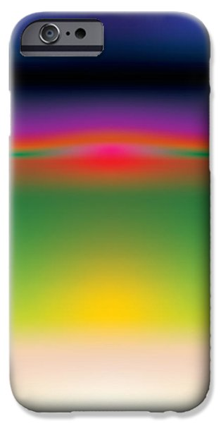 Layered Digital Art iPhone Cases - Abstract Color  iPhone Case by Gary Grayson