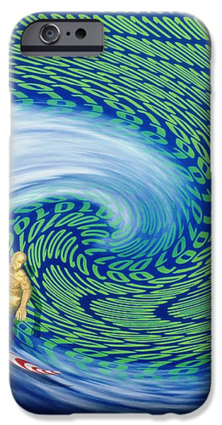 Abstract Computer Artwork Of Surfing The Internet iPhone Case by Laguna Design