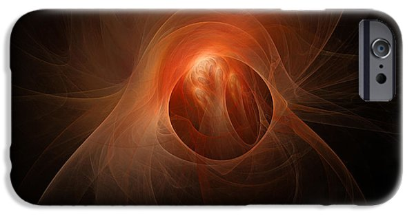 Cyberspace Digital Art iPhone Cases - Abstract Conceptual Image Of A Scene iPhone Case by Mark Stevenson