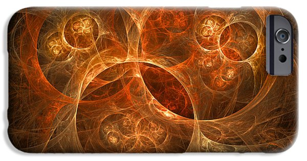 Cyberspace iPhone Cases - Abstract Conceptual Image Of Atomic iPhone Case by Mark Stevenson