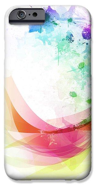 Abstract curved iPhone Case by Setsiri Silapasuwanchai
