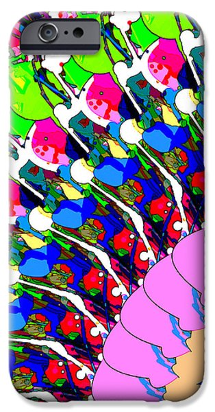 Abstract Digital Art iPhone Case by Phil Perkins