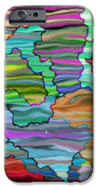 Gina Manley iPhone Cases - Abstract Emotions  iPhone Case by Gina Lee Manley