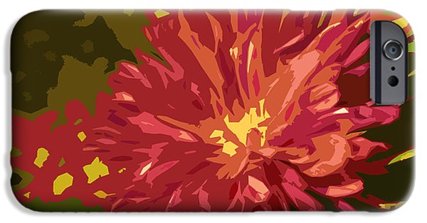 Nature Divine iPhone Cases - Abstract Flower 10 iPhone Case by Sumit Mehndiratta