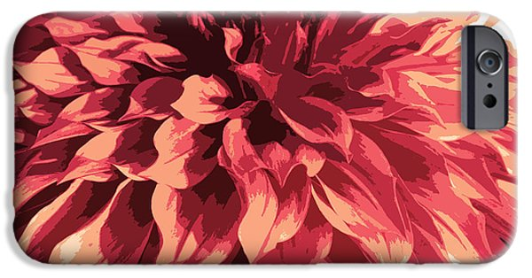 Nature Divine iPhone Cases - Abstract Flower 13 iPhone Case by Sumit Mehndiratta