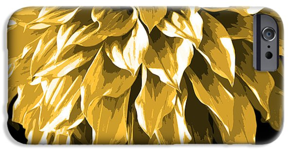 Nature Divine iPhone Cases - Abstract Flower 4 iPhone Case by Sumit Mehndiratta