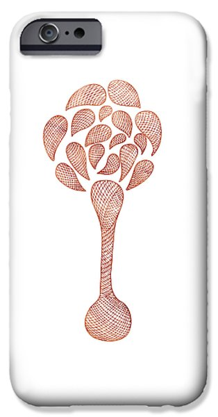 Botanic Illustration iPhone Cases - Abstract Flower iPhone Case by Frank Tschakert