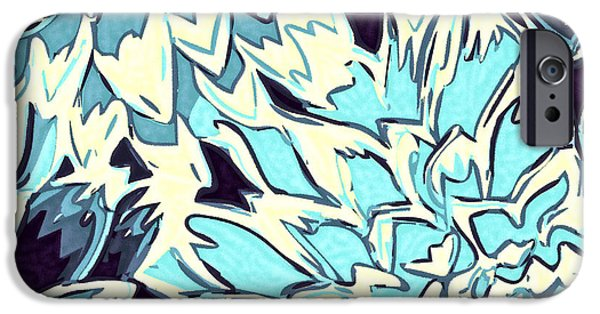 Nature Divine iPhone Cases - Abstract Flowers 11 iPhone Case by Sumit Mehndiratta
