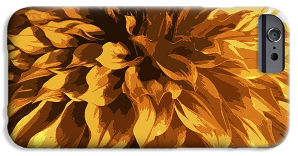 Nature Divine iPhone Cases - Abstract Flowers 14 iPhone Case by Sumit Mehndiratta