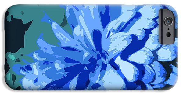 Nature Divine iPhone Cases - Abstract Flowers 2 iPhone Case by Sumit Mehndiratta