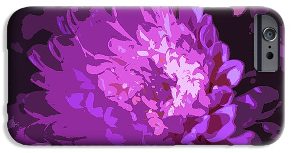 Nature Divine iPhone Cases - Abstract Flowers 3 iPhone Case by Sumit Mehndiratta