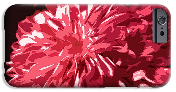 Nature Divine iPhone Cases - Abstract Flowers iPhone Case by Sumit Mehndiratta