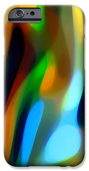 Abstract Movement iPhone Cases - Abstract Garden Light iPhone Case by Amy Vangsgard