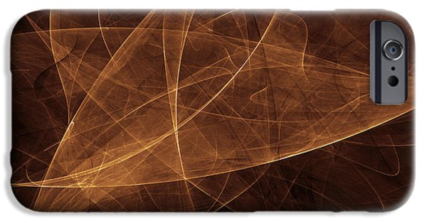 Cyberspace iPhone Cases - Abstract Gold Illustration iPhone Case by Vlad Gerasimov