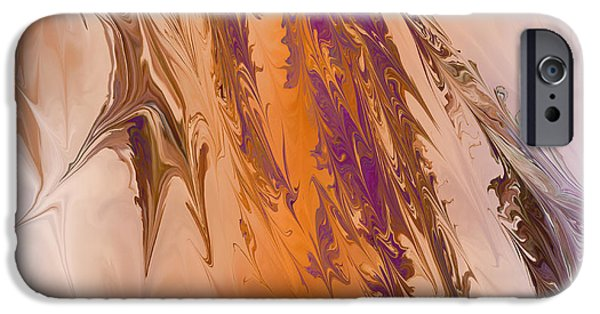Abstract Digital Digital iPhone Cases - Abstract In July iPhone Case by Deborah Benoit