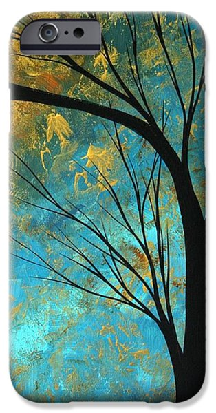 Rust iPhone Cases - Abstract Landscape Art PASSING BEAUTY 3 of 5 iPhone Case by Megan Duncanson