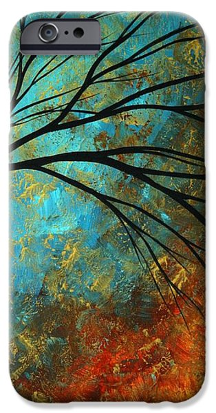 Rust iPhone Cases - Abstract Landscape Art PASSING BEAUTY 4 of 5 iPhone Case by Megan Duncanson