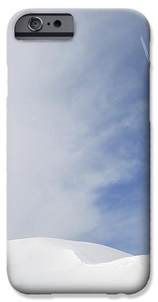 Abstract minimalist winter landscape - snow and blue sky iPhone Case by Matthias Hauser