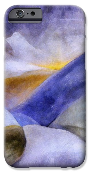 Abstract Mountain Landscape iPhone Case by Michelle Calkins