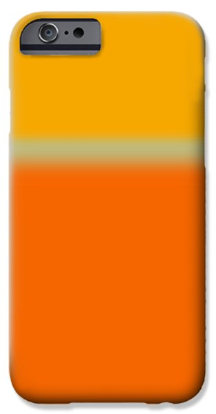 Abstract Orange and Yellow iPhone Case by Naxart Studio