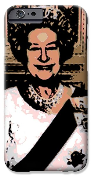 Jubilee Digital iPhone Cases - Abstract Portrait of a Queen iPhone Case by George Pedro