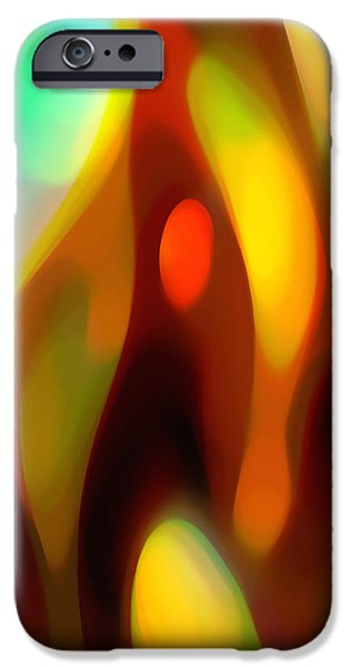 Abstract Movement iPhone Cases - Abstract Rising Up iPhone Case by Amy Vangsgard