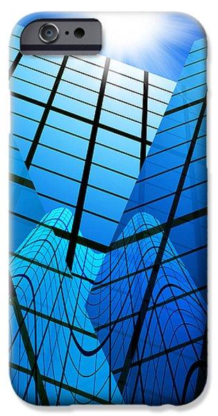 abstract skyscrapers iPhone Case by Setsiri Silapasuwanchai