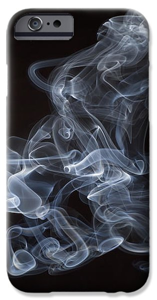 Abstract smoke running horse iPhone Case by Setsiri Silapasuwanchai