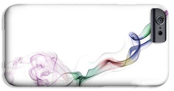 Soft Colour iPhone Cases - Abstract smoke iPhone Case by Setsiri Silapasuwanchai