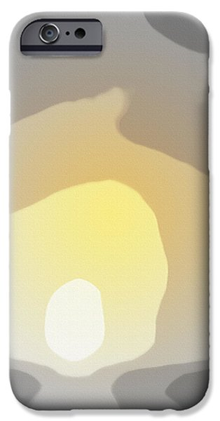 Abstract Seascape iPhone Cases - Abstract Sunset 4077 iPhone Case by Gina De Gorna