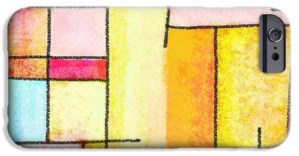 Colorful Abstract Pastels iPhone Cases - Abstract Town iPhone Case by Setsiri Silapasuwanchai
