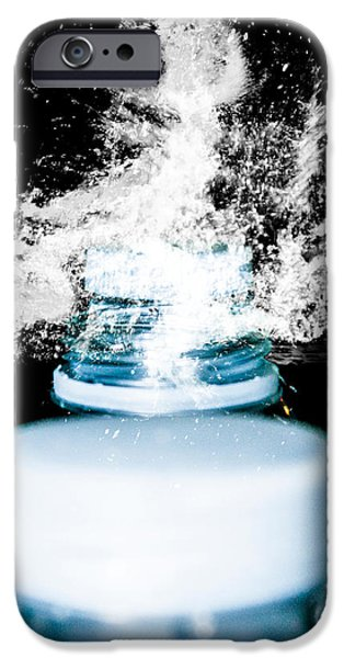 Abstract Digital Art iPhone Cases - Abstract Water Spill iPhone Case by Ester  Rogers