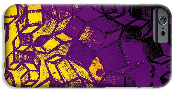 Abstract Digital Photographs iPhone Cases - Abstract Zinc Etching Plate iPhone Case by Chris Berry