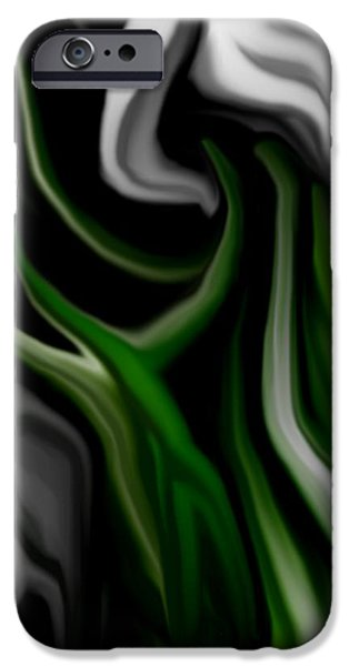 Abstract309h iPhone Case by David Lane
