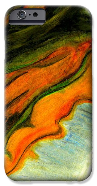 Abstractions Pastels iPhone Cases - Abstraction II iPhone Case by Carla Sa Fernandes