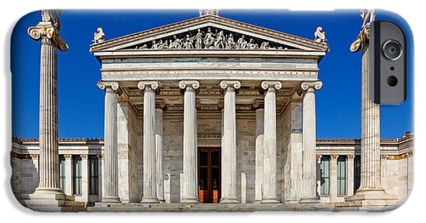 Antiques iPhone Cases - Academy - Greece iPhone Case by Constantinos Iliopoulos