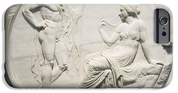 Consult iPhone Cases - Achilles Consulting Pythia, Roman Carving iPhone Case by Sheila Terry