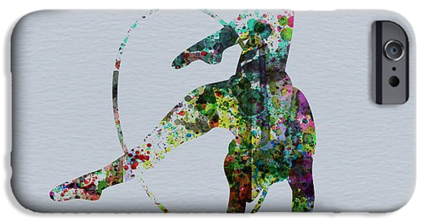 Relationship Paintings iPhone Cases - Acrobatic dancer iPhone Case by Naxart Studio