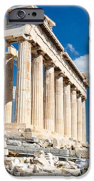 Mesta iPhone Cases - Acropolis Parthenon 3 iPhone Case by Emmanuel Panagiotakis