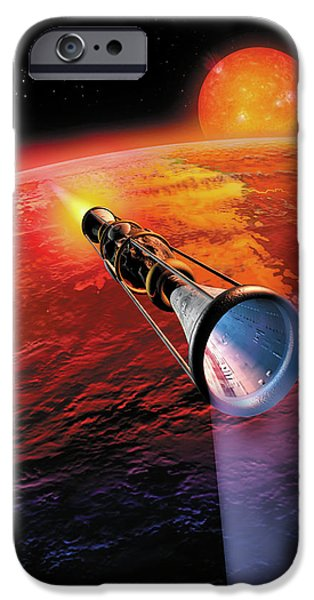 Astronomy Paintings iPhone Cases - Across the Sea of Suns iPhone Case by Don Dixon