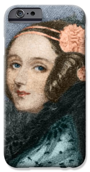 Countess iPhone Cases - Ada Lovelace iPhone Case by Science Source