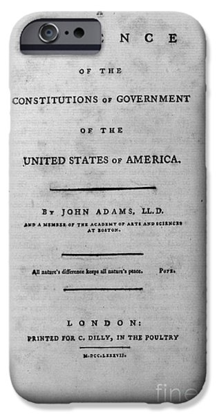 ADAMS: TITLE PAGE, 1787 iPhone Case by Granger