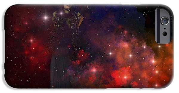 Raised Image iPhone Cases - Adora, Goddess Of The Heavens iPhone Case by Corey Ford