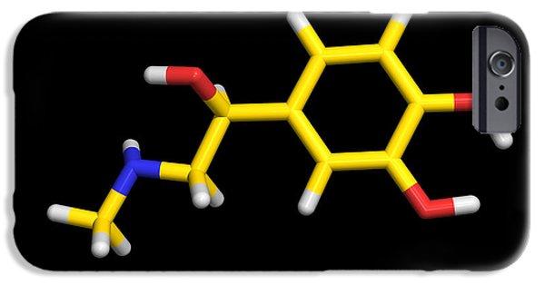 Adrenaline iPhone Cases - Adrenaline Molecule iPhone Case by Dr Tim Evans
